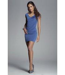 sukienka angie m074 niebieska