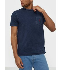 polo ralph lauren short sleeve t-shirt t-shirts & linnen navy
