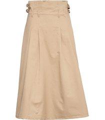 skirt knälång kjol beige sofie schnoor