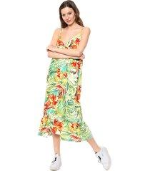 vestido verde odas solero flores