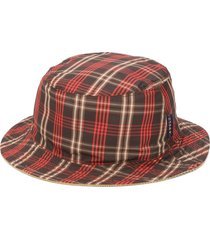 anglozine reversible check hat - brown