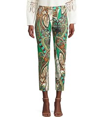 carly multicolor paisley-print pants
