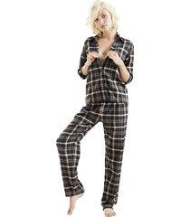 pantalón largo estampado-cuadros-options-femenino