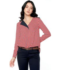 blusa rojo-blanco-negro nautica