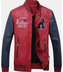 giacca in pile da uomo in tessuto sintetico con tasche applicate con cerniera in pile