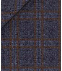 giacca da uomo su misura, lanificio zignone, blu a quadri lana lino, primavera estate | lanieri
