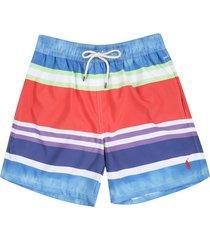 short watercolor stripe polo ralph lauren baño traveler rayas