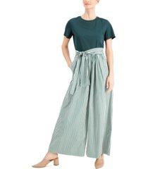 weekend max mara stemma cotton two-piece illusion jumpsuit
