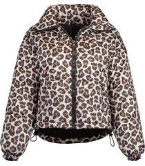 giubbino leopard puffer jacket