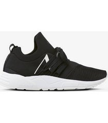 sneakers raven mesh s-e15 jet black white - women