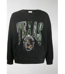 rhude texas crew-neck sweatshirt