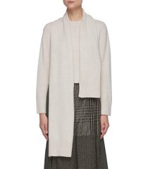 assymetric cashmere blend scarf sweater
