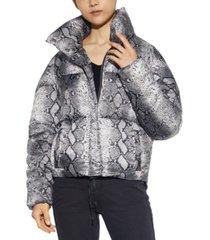 apparis sabrina python-printed puffer coat, created for macy's