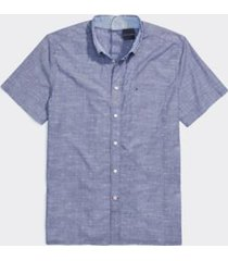 tommy hilfiger men's adaptive seated fit short sleeve shirt blue depths - l