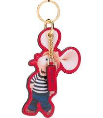 alberta ferretti cartoon motif key chain - black