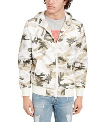 guess men's lightweight hooded bomber jacket
