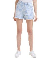 calvin klein jeans tie-dyed cotton denim shorts