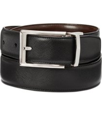perry ellis men's saffiano leather reversible belt