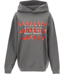 maison margiela logo print hoodie
