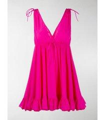 balenciaga ruffle-hem babydoll mini-dress