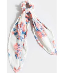 rebecca floral pony scarf - ivory