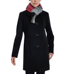 london fog single-breasted scarf coat