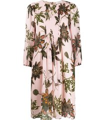 dorothee schumacher front pleated loose dress - pink