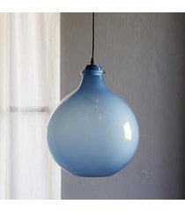 sundance catalog salon glass opaque pendant in snow large