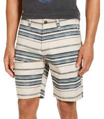 "lucky brand men's striped twill 9"" shorts"