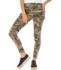 jeans cargo mujer militar corona
