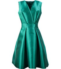 alberta ferretti aqua green silk blend mini dress