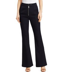ray front-zip flare pants