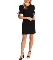 women's cece keyhole puff sleeve crepe a-line dress, size 6 - black
