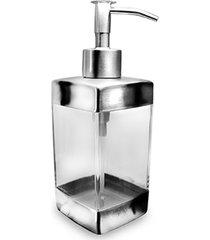 porta sabonete liquido em inox e acrilico quadrado - saboneteira liquida