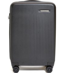 sympatico carry-on expandable spinner suitcase - black