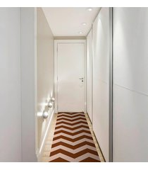 passadeira chevrom caramelo casa dona antiderrapante 0,66x2,40cm