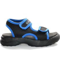 sandalia negra kickers lighty