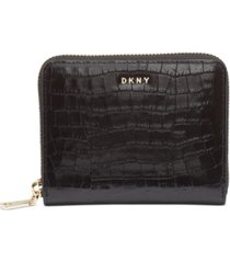 dkny bryant croc zip around leather wallet, created for macy's