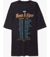 womens moon eclipse summer tour graphic tee dress - grey