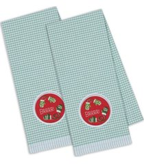 design imports brrrr mittens embroidered dishtowel