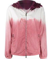 moncler tie-dye print hooded jacket - pink