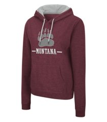 colosseum montana grizzlies women's genius hooded sweatshirt