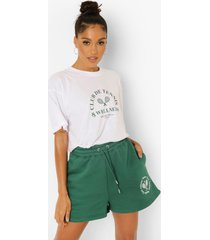 geborduurde tennis sweat shorts