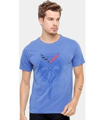 camiseta corvette big flame masculina