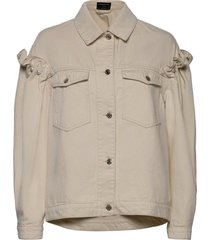 brennon ecru denim jacket jeansjack denimjack crème mother of pearl