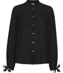 gia blouse blouse lange mouwen zwart filippa k