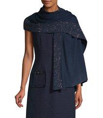 la fiorentina women's embellished scarf - charcoal
