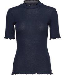 nelli ss 9400 t-shirts & tops short-sleeved blå samsøe & samsøe