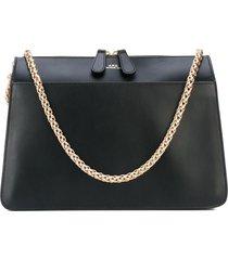 a.p.c. gold chain strap shoulder bag - black