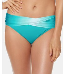 bleu by rod beattie ombre foldover bikini bottoms women's swimsuit